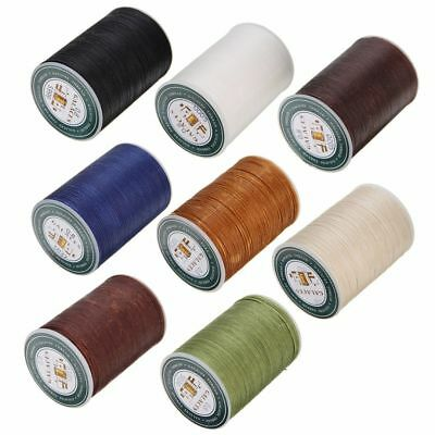 Useful 0.8mm Waxed Line Thread Polyester Sewing Flat Stitching Leather Craft