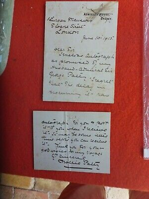 Mollie Paley Signed Admiralty House Sydney  Letter 1915