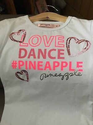 Brand New Girls Age 4 Pineapple Long Sleeved Top With Label