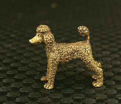 old chinese bronze hand casting dowager dog statue decoration collectable gift