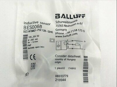 ONE New Balluff proximity switch sensor BES M18MQ1-PSC12B-S04G SPOT STOCKS