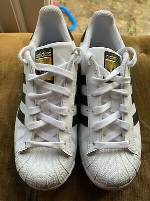 Adidas Superstar Trainers Size 3 White/black Excellent Condidion Hardly Worn