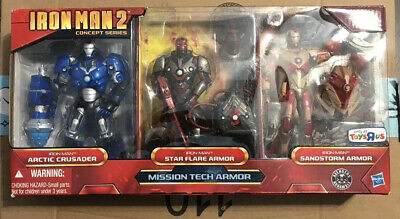 Marvel Legends Iron Man 2 Concept Series Mission Tech Armor TRU 3-pack Box Set