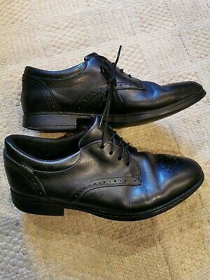 Clarks Bootleg Sami Fudge GTX BL Black Leather Lace Up Senior Girls School Shoes