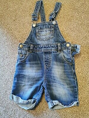 Next BOYS short  Denim Dungarees Age 2-3 years