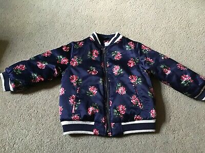Immaculate Navy Blue Floral Lined Gap Bomber Jacket Gap Age 4 Years