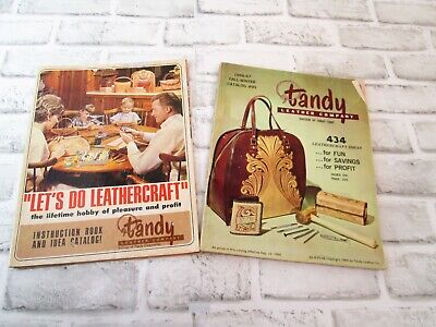 Lot of 2 Vintage 1967 TANDY Leather Company Supply Order Catalog #95