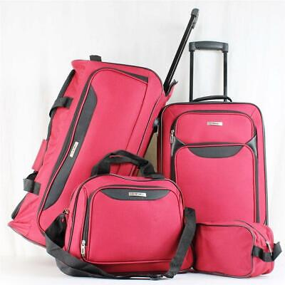Tag Springfield Iii 4 Piece Red Wheeled Luggage Set