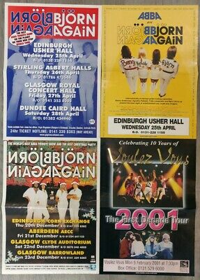 Björn Again Scottish Concert/Tour Posters from 2001 (x4)
