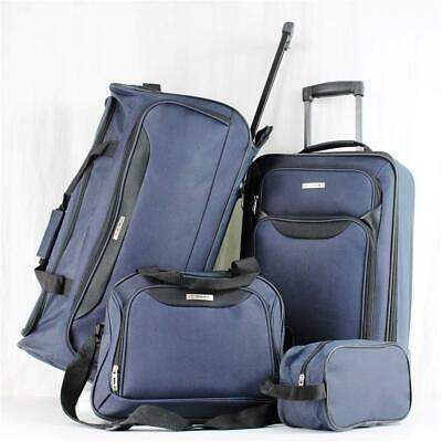 Tag Springfield Iii 4 Piece Navy Blue Lightweight Wheeled Luggage Set  1