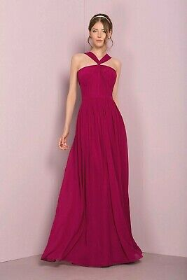 Goddess Bridesmaids Prom Dress Maxi Long Chiffon Event Party Outfit Dresses S M