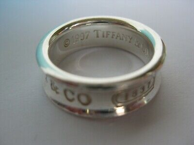 Tiffany & Co. 925 Sterling Silver 1997 Concave Band Ring T & Co 1837 Size 5.5