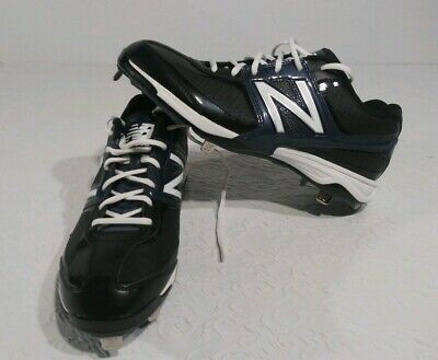New Balance Low-Cut 4040v4 Metal Baseball Cleat Mens Shoes black with White Size
