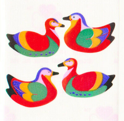 Vintage 80/'s Great Seven 7 PEARLY Colorful Reef Fish Sticker Mod