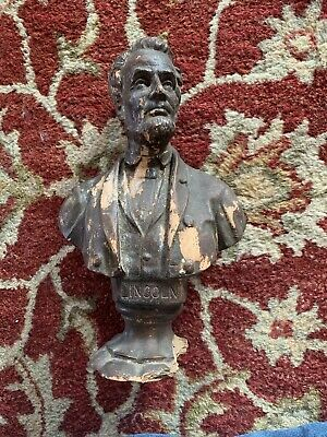 Vintage Bust Statue Sculpture Of President Abe Abe Lincoln
