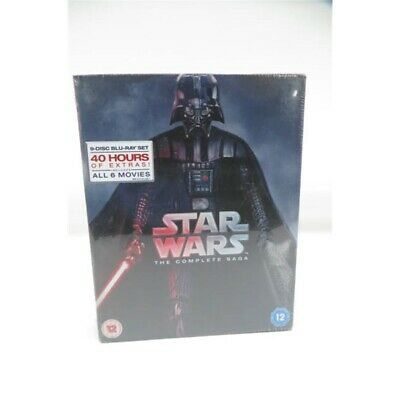 Star Wars The Complete Saga 9 Disc Blu- ray DVD Box Set Region Free/Rated 12