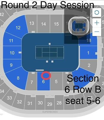 Australian Open - Round 2 - Wed 22nd Jan -  Day session - 2 Adjacent seats Row B