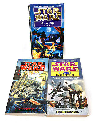 STAR WARS Expamded Universe X WING ROGUE SQAUDRON Trilogy Novel Book set
