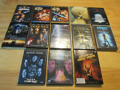 Science Fiction Sci-Fi 13 Movie DVD LOT- Star Wars, THX, Close Encounters, Abyss
