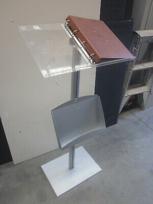 Menu Stand Cafe, Restaurant Stand Up Steel And Perspex