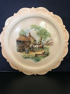 Vintage Picture Plate Made By Jennies Ceramics Australia