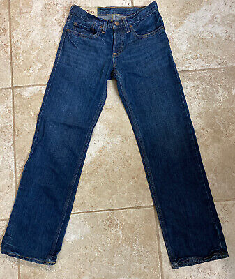 HOLLISTER Mens Boys Blue Jeans Denim Size 28 X 30 Classic Straight