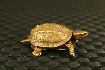 old chinese bronze hand casting Mini tortoise statue collectable Hand piece gift