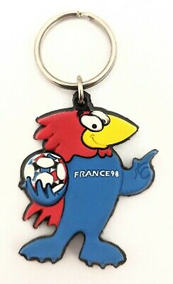 Footix France 98 World Cup Mascot Keyring - Vintage Collectable