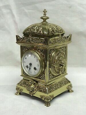 Antique French Clock Chimes On A Bell