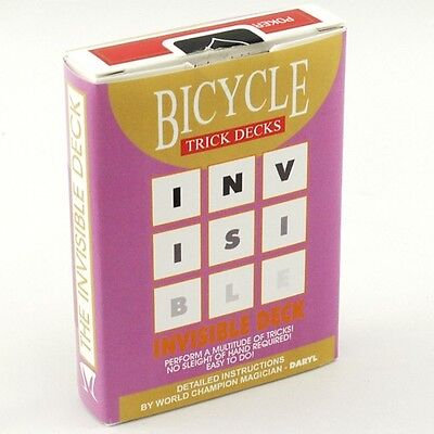 Invisible Bicycle Red Deck Gaff Playing Cards Poker Size - Magic Card Tricks