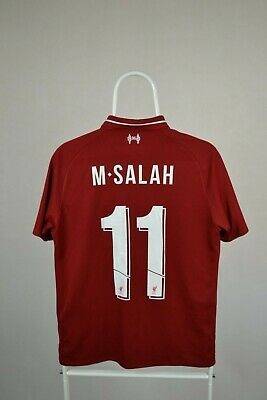 Liverpool 2018 2019 Home Football Shirt Soccer Jersey New Balance #11 Salah S
