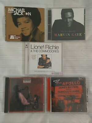 CD Collection, Lionel Ritchie and Commodores, James Brown, Michael Jackson