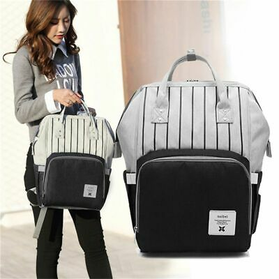 Black fashion diapers large-capacity multi-function care bag children trave K2Y8