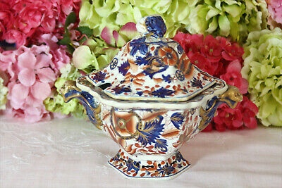 Antique Chinese Export Imari Porcelain Sauce Tureen