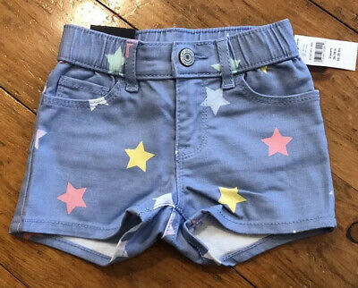 NWT Baby Gap Girls Bow Shortie Shorts  denim stars    you pick size
