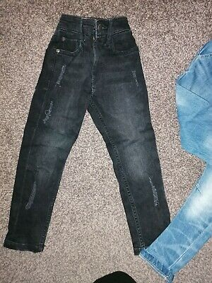 Boys Age 4 Years Next Black ripped skinny Jeans