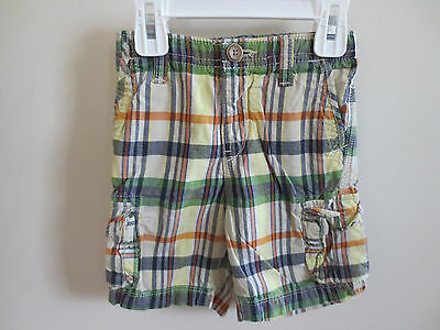 Baby Gap Plaid Cargo Shorts Multi-colored Baby Toddler Boys 18-24 Months VGUC