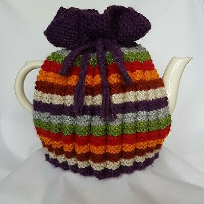 TEA COSY, Hand Knit, Vintage Style,inspired by Dr Who, Tea Pot Cosy, Retro,Gift