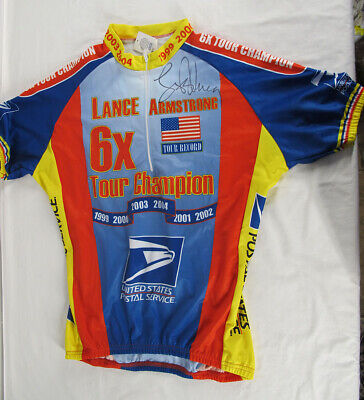 Lance Armstrong SIGNED Tour de France 6X Champion Limited Edition Jersey yqz