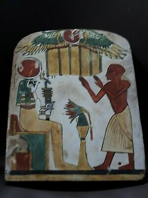 Ancient Egyptian Wooden Stela BC