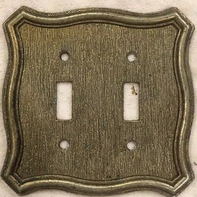 1968 American Tack and Hardware Metal Double Switch Plate Cover Mid Century