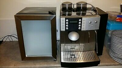 Franke Flair commercial coffee machine and milk fridge