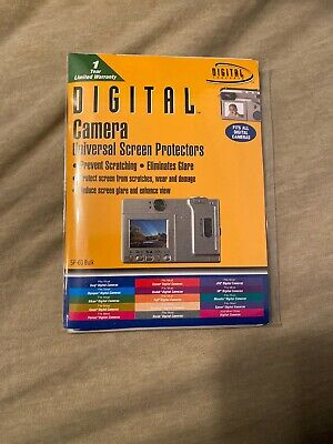 Universal Camera Screen Protectors by Digital Concepts - Sealed Never Used New
