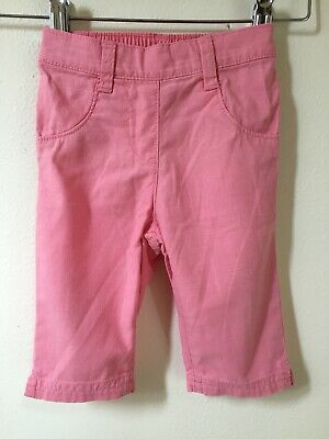 Baby Girls NEXT Pink 100% Cotton Summer Holiday TROUSERS Age 9-12 months