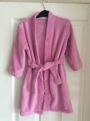 Girls Age 4-5 Pink Fleece Dressing Gown By Mothercare