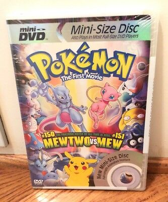 New Pokemon The First Movie Mini Dvd Mew Two Vs Mew Sealed For