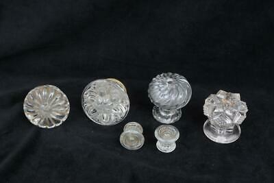 Group of 6 Antique Glass Knobs *Drawer / Door / Cabinet Pulls