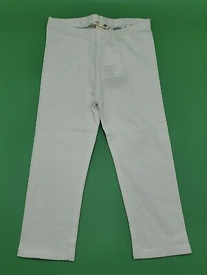 H&M Girls' Cotton Blend Cropped White Leggings Size 6-7 Years New With Tags