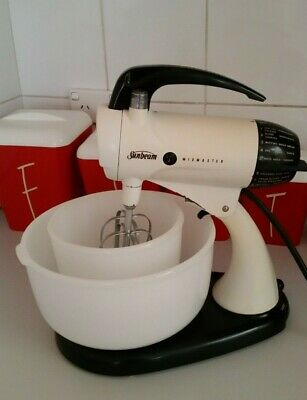 Vintage Sunbeam 50/ 60s  Mixmaster model A 12 with 2 bowls & beaters working