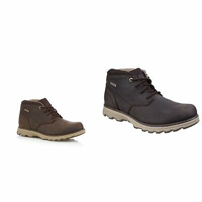 CAT Lifestyle ELUDE Mens Casual Leather Waterproof Lace Up Ankle Boots Brown